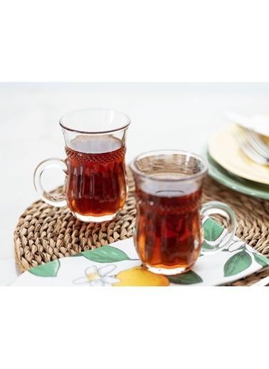 Madame Coco Garen 4'Lü Çay Fincanı Renkli